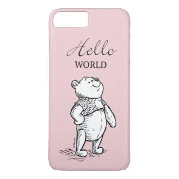Winnie the Pooh | Hello World Quote iPhone 8 Plus/7 Plus Case