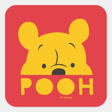Winnie the Pooh | Peek-a-Boo Pooh Square Sticker