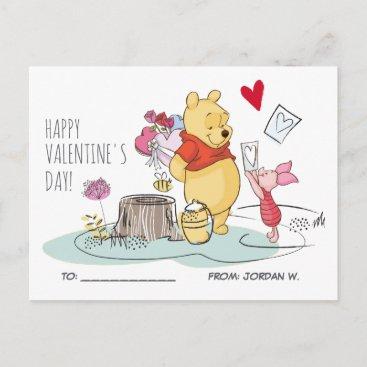 Winnie the Pooh & Piglet | Sweet Like Honey Holiday Postcard