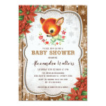 Winter Christmas Baby Shower Invitation Reindeer