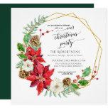 Winter Christmas Party Watercolor | Square Invitation