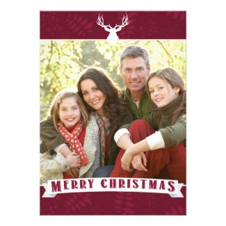 WINTER FOLIAGE, PHOTO HOLIDAY CARD AND LETTER Template