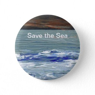 Winter Sea - Save the Sea CricketDiane Button Pin zazzle_button