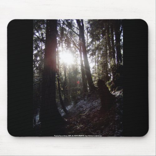 Winter Sunrays #16 mousepad