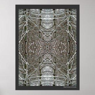 Winter Symmetry Abstract Art Poster Print print