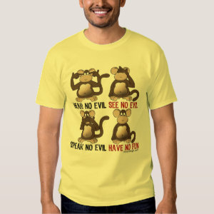 Wise Monkeys Humour T-shirt