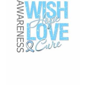 Wish Hope Love Cure Prostate Cancer shirt