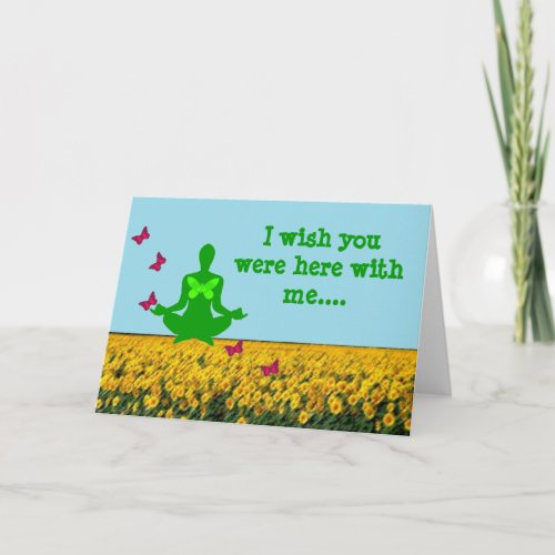 Wish you were here - Yoga Greeting Cards