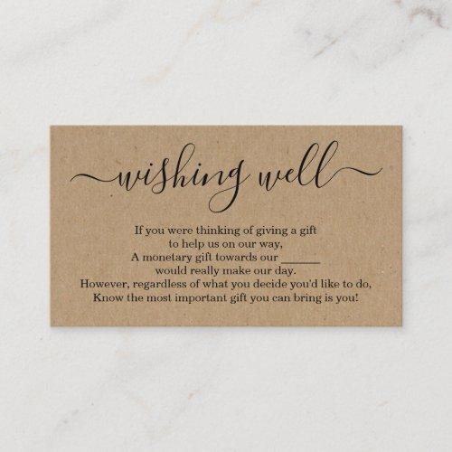Wishing Well for Wedding Invitation - Rustic