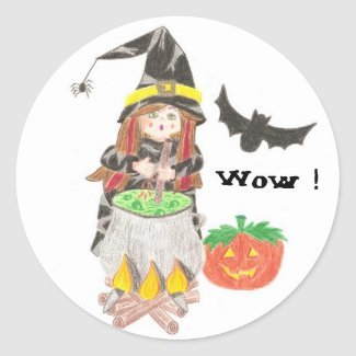 Witch 1 (Wow !) reward stickers