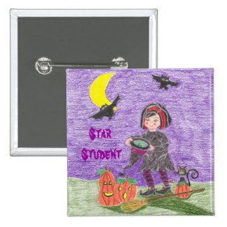 Witch 3, Star Student 2 Inch Square Button