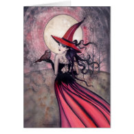 Witch and Owl Greeting Card