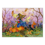 Witches Comapnions greeting card