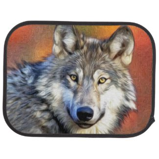 Wolf Art Painting Car Mat