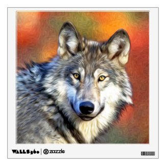 Wolf Art Painting Wall Sticker