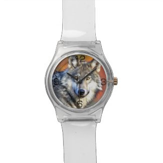 Wolf Art Painting Wristwatch