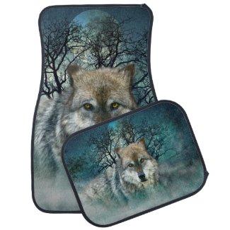 Wolf Car Mat