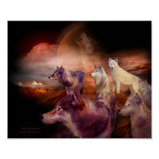 Wolf Mountain Art Poster/Print