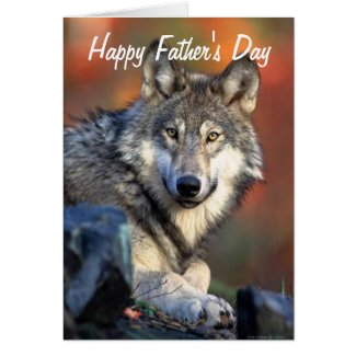 Wolf Photograph Happy Father's Day Greeting Card