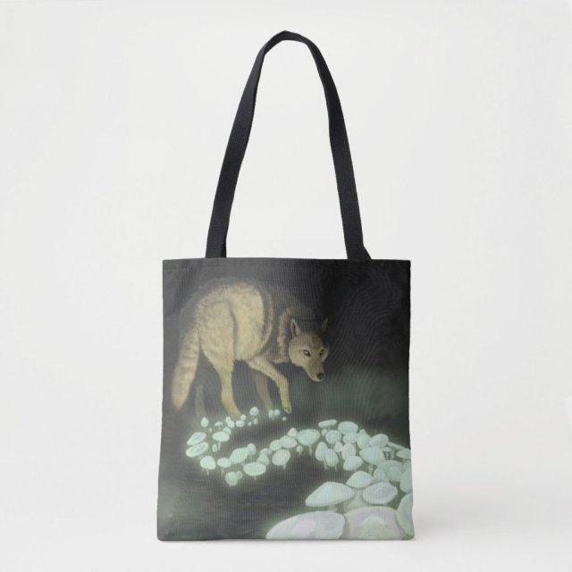 Wolf Trailing Death Mushrooms Crossbody Bag
