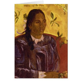 Woman with Gardenia by Paul Gauguin Greeting Cards