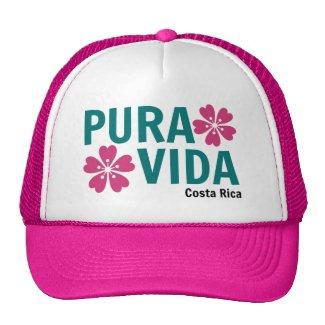Woman's Pink Floral Pura Vida Hat