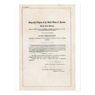 Women's Right to Vote- 19th Amendment
