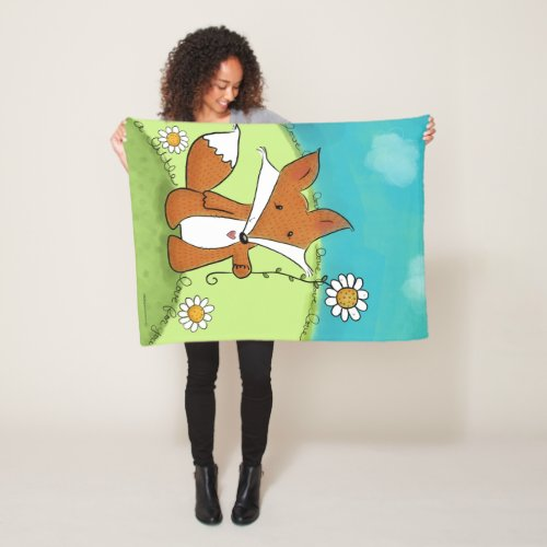 Woodland Fox Little Love for You Fleece Blanket
