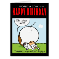 World of cow birthday card - Oh...dear lord!