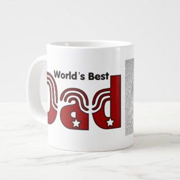 World's Best Dad Photo Jumbo Mug