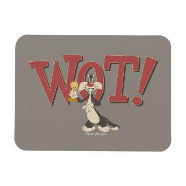 """Wot!"" SYLVESTER™ & TWEETY™ Hypnotized Magnet"