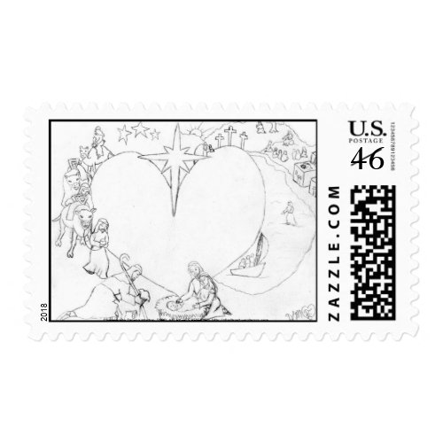Wrapped in the arms of His Love stamp