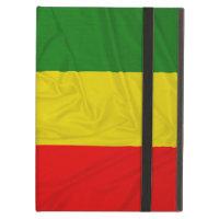 Wrinkled Rastafarian Flag iPad Cover
