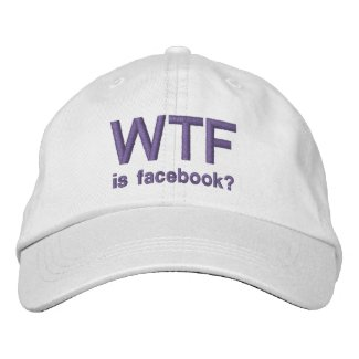 WTF is Facebook? Purple classic white cap embroideredhat