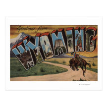 Wyoming (Cowboy)Large Letter ScenesWyoming Postcard