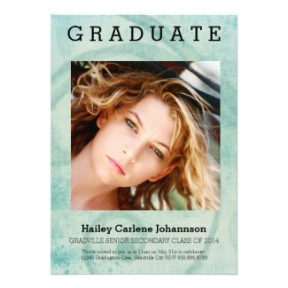 XL Photo Modern Graduation Swirl Personalized Announcement