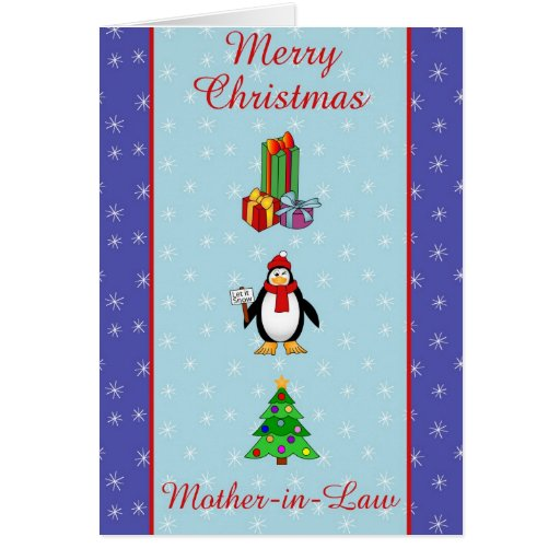 Xmas Mother in Law greeting card | Zazzle