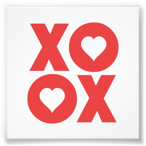 XOXO Hugs and Kisses Valentine's Day Photo Print