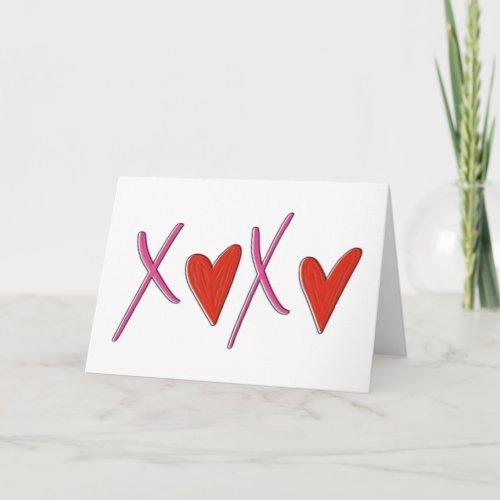 XOXO Valentine's Day Card