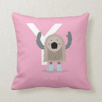 Y is for... throw pillow