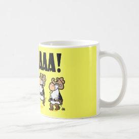 Yee-HAAA! Linedancing Cows Coffee Mug