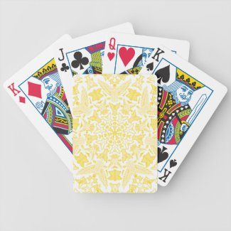 Yellow Angels Kaleidoscope Bicycle Playing Cards