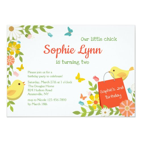 Yellow Birds Invitation