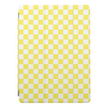 Yellow Checkerboard Pattern iPad Pro Cover