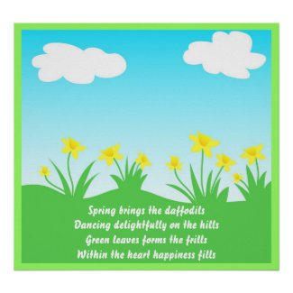Yellow daffodils - Poster print