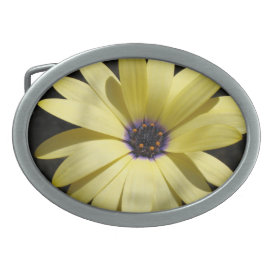Yellow Daisy in Black - Belt Buckle