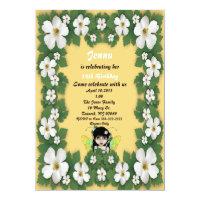 Yellow Fairy Birthday Invitation
