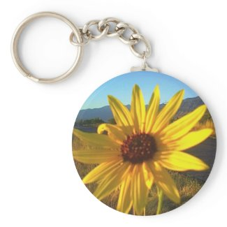 Yellow Flower Keychain