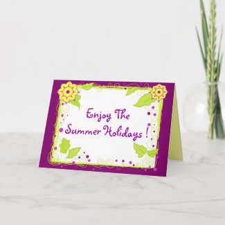 Yellow flowers - Card