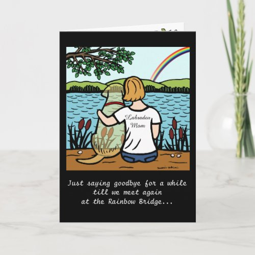 Yellow Labrador Angel and Mom Card